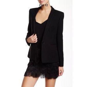 BCBG MAXAZRIA Kamryn Slim Fit Textured Blazer XS